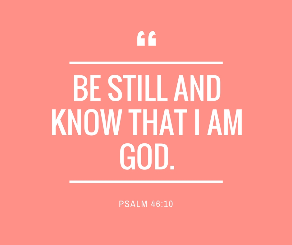 Be Still and Know That I Am God - FB Post   www.therescuedletters.com