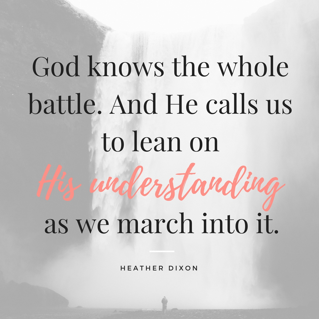 God's Understanding, Our Trust: Part 3 - Lean Not on Your Own Understanding - IG | www.therescuedletters.com