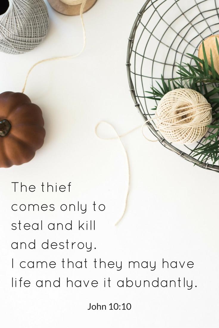 John 10:10 - Pinterest | www.therescuedletters.com