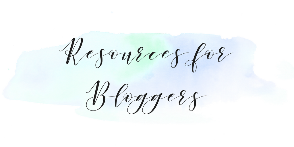 Resources for Bloggers - light - www.therescuedletters.com