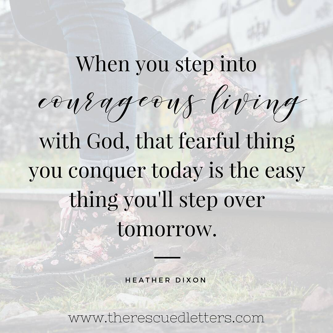 Keep Stepping | Learning to Live Courageously | www.therescuedletters.com