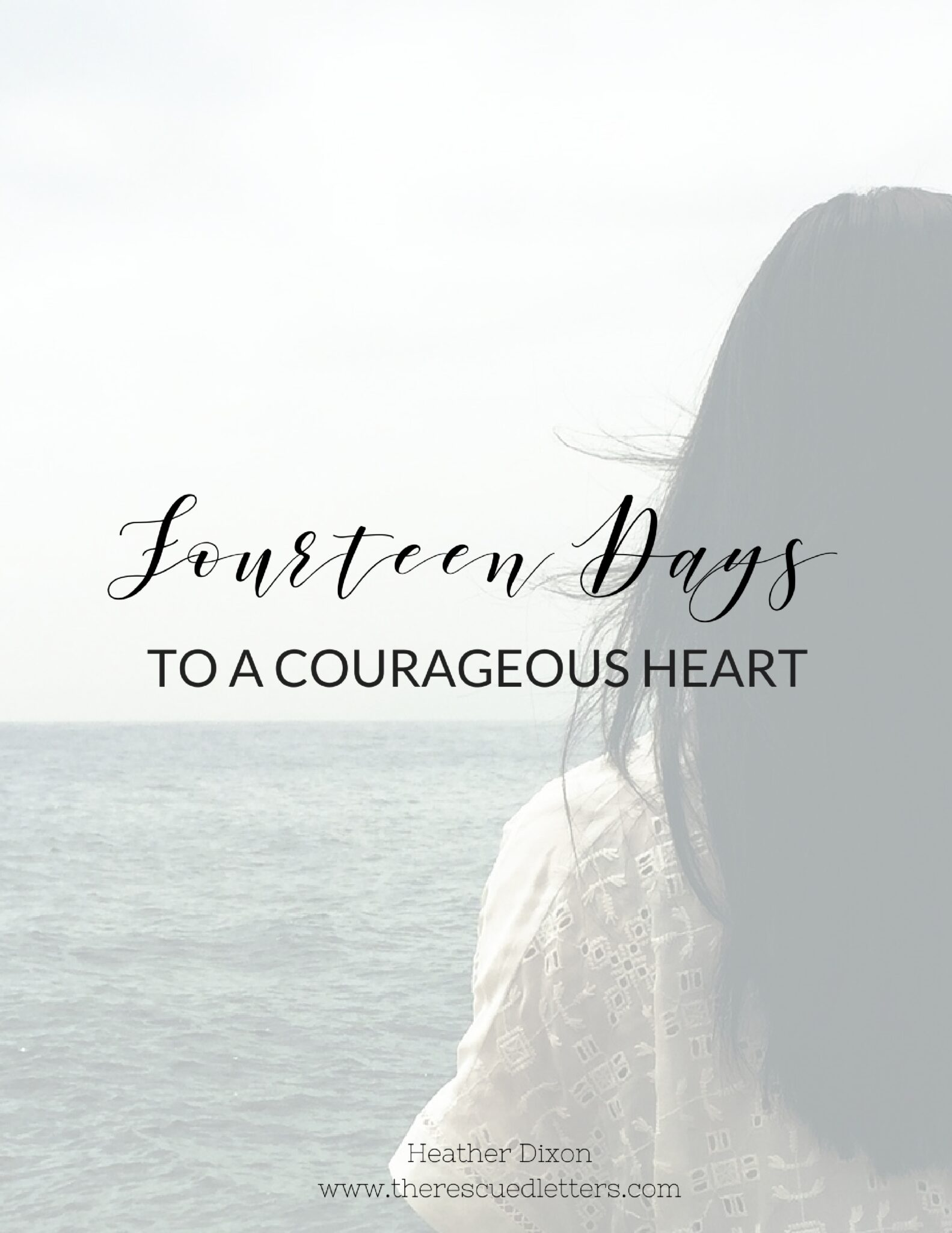True courage has nothing to do with earthly bravery and everything to do with heavenly focus. | 14 Days to a Courageous Heart: a 14-day email challenge on courageous living | www.therescuedletters.com