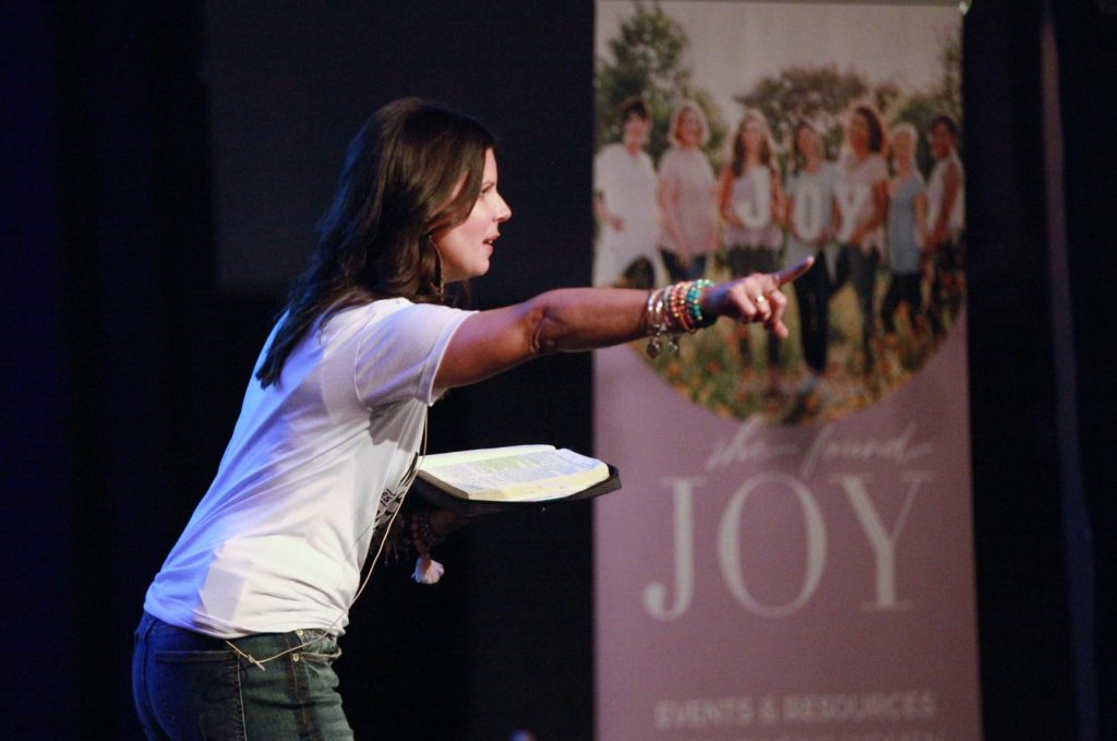 Heather M. Dixon teaching on Matthew 14 at the She Found Joy national tour event in Nashville TN.